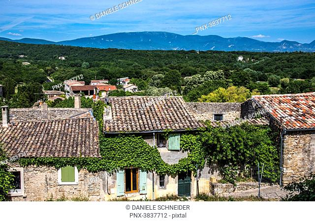 France, Provence, Drome, Grignan, plunging view on the roofs (Plus Beau Village de France - Most Beautiful Village of France)