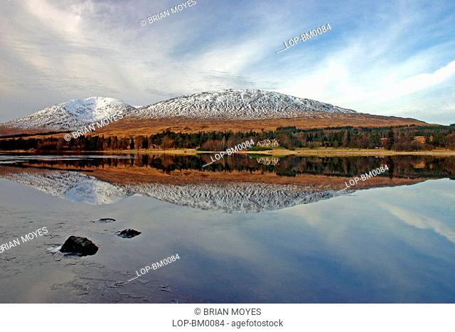 Scotland, Argyll and Bute, Loch Tulla, Reflections in Loch Tulla
