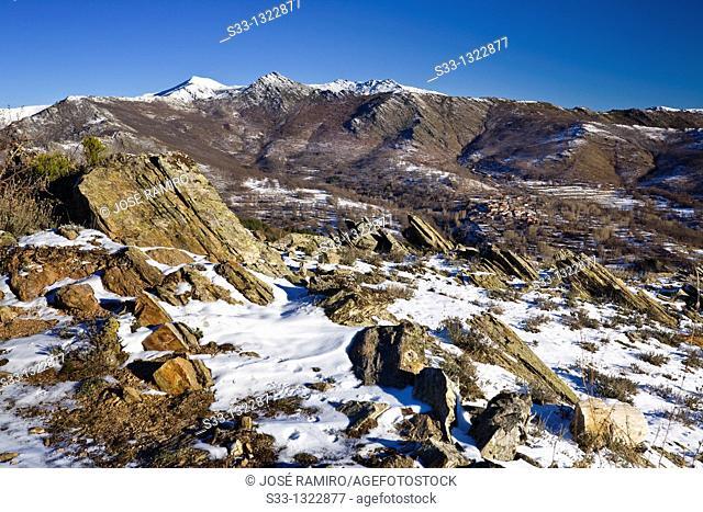 Santuy and Cerrón peaks in the Sierra Norte Guadalajara Castilla León Spain