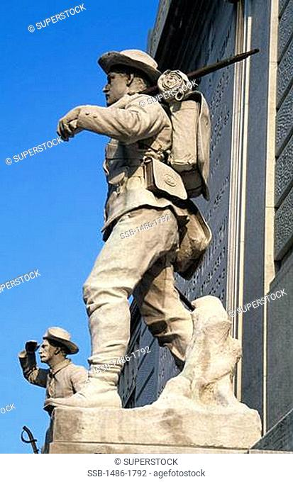 Low angle view of a war memorial, Soldiers And Sailors Monument, Indianapolis, Indiana, USA