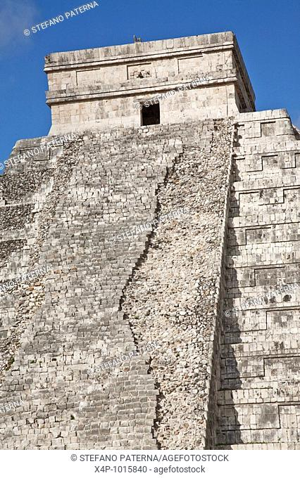 The Castle or Pyramid of Kukulcan  Chichen Itza Archaeological Site Yucatan Mexico