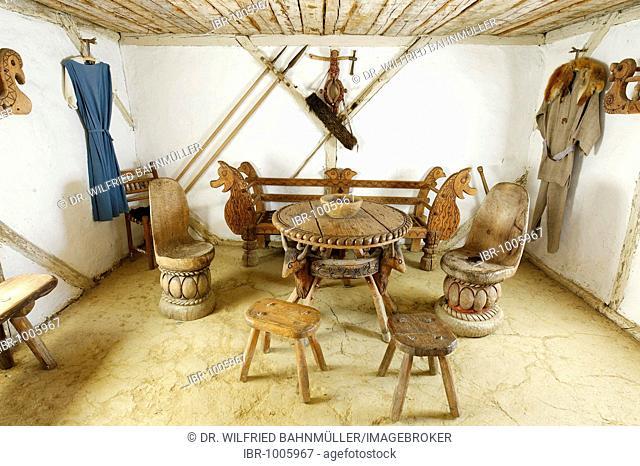 Manor house, celtic village Mitterkirchen, Marchland, Upper Austria, Europe