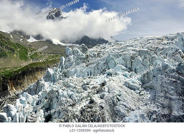 Glaciar d'Argentiere, Chamonix Alpes franceses