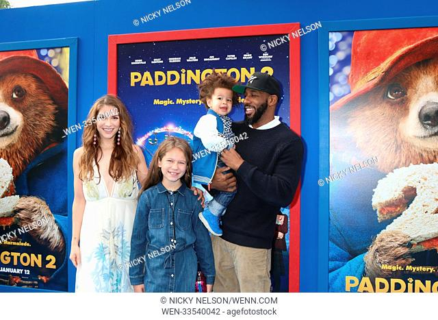 """""""""""""""Paddington 2"""""""" US Premiere at Village Theater on January 6, 2018 in Westwood, CA Featuring: Allison Holker, Stephen Boss, Family Where: Westwood, California"""