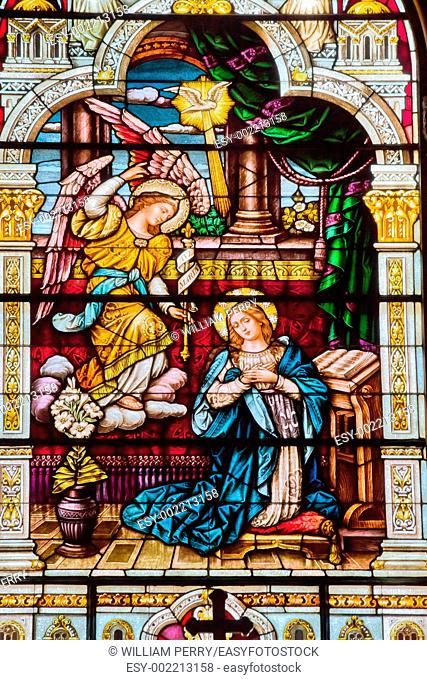 Angel Appearing to Mary and Telling Her About Baby Jesus Saint Peter and Paul Catholic Church Completed 1924 San Francisco California