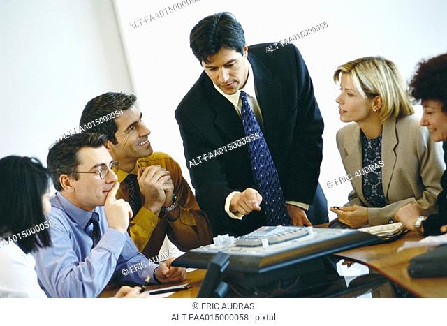 Group of business associates having conference call