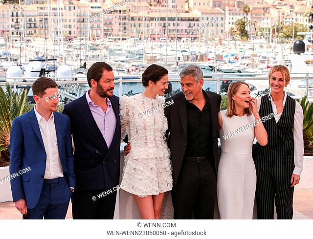 69th Cannes Film Festival - 'Money Monster' - Photocall Featuring: George Clooney, Julia Roberts, Jodie Foster, Dominic West, Jack O'Connell