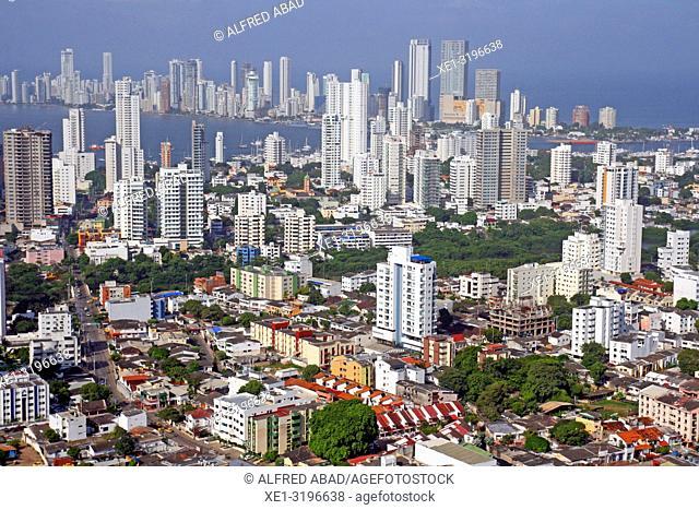 Overview of Cartagena de Indias, Colombia