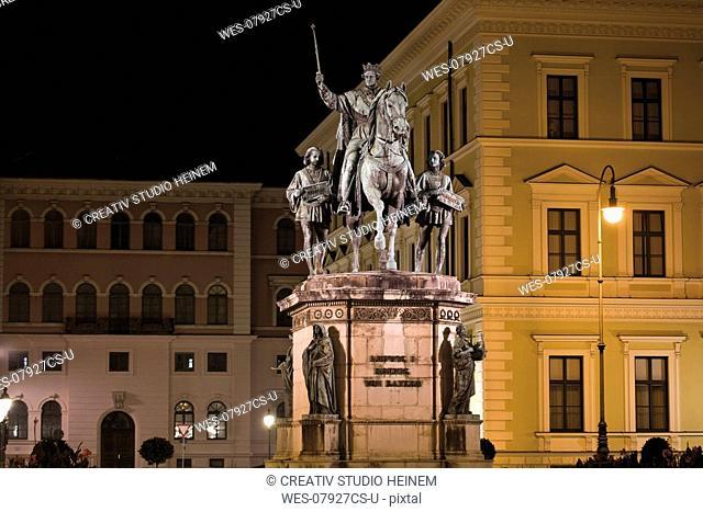 Germany, Bavaria, Munich, Monument for Bavarian King Ludwig I , Odeonsplatz