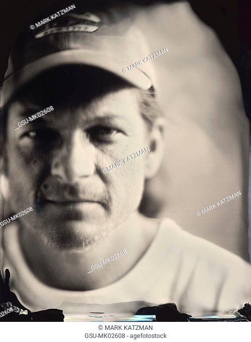 Ambrotype portrait of working man