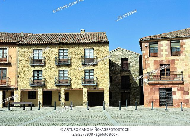 The Main Square. Medinaceli, Soria province, Spain