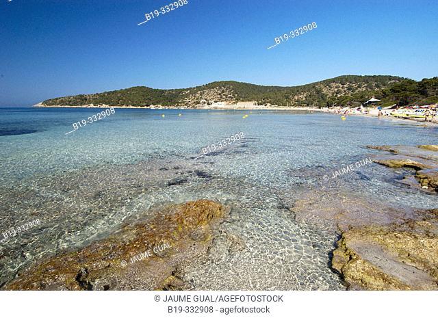 Ses Salines beach. Ibiza, Balearic Islands. Spain