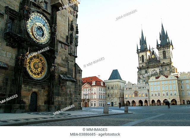 Czech republic, Prague, Old Town, alto-city-dwellers town hall, astronomic clock