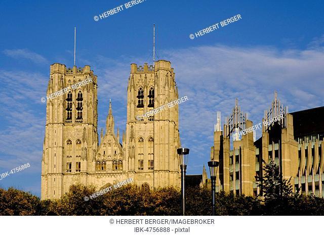 Cathédrale des Saints Michel et Gudule, Cathedral of St Michael and St Gudula, Brussels, Belgium