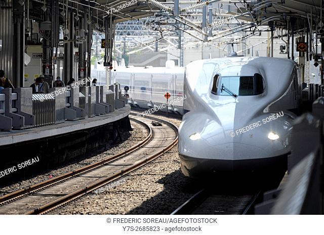 Shinkansen train, Tokyo, Japan