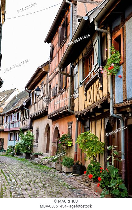 Half-timbered houses in Eguisheim, Alsace