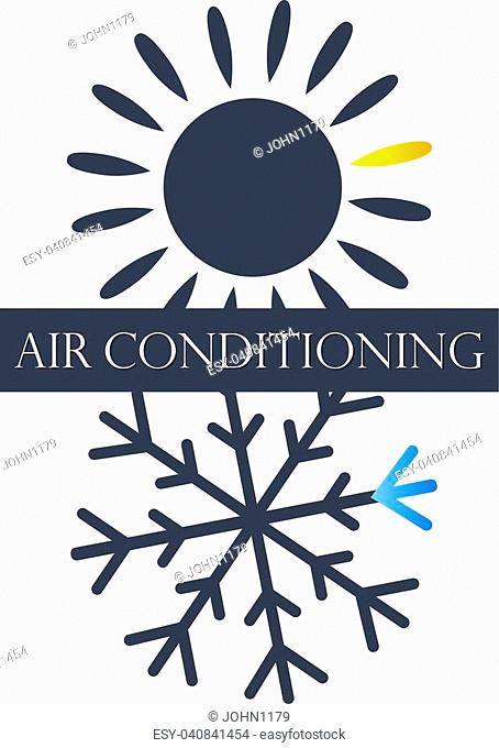 Air conditioning and ventilation. Heating and blowing symbol