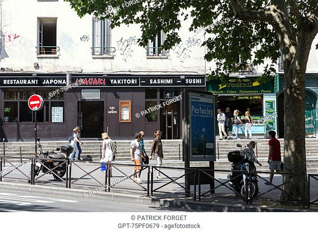 JAPANESE RESTAURANT, RUE MONSIEUR LE PRINCE AND BOULEVARD SAINT-MICHEL, PARIS (75), FRANCE