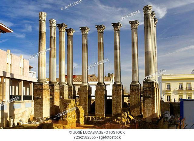 Roman temple, first century, Cordoba, Region of Andalusia, Spain, Europe