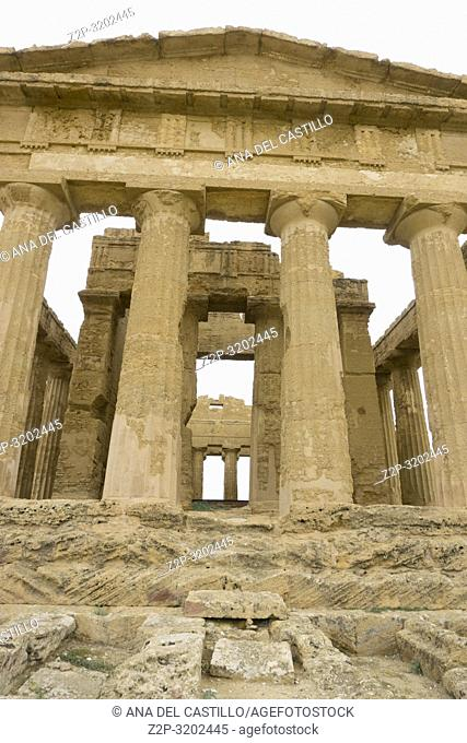 Concordia temple in the Valley of the Temples, Agrigento Sicily, Italy