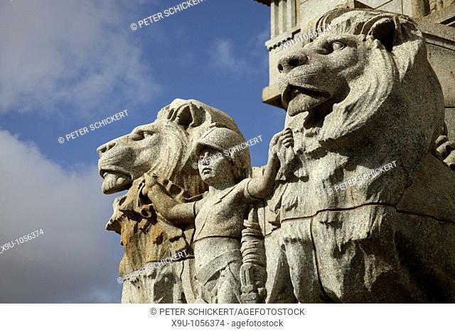group of statuary at the Shrine of Remembrance in Melbourne, Victoria, Australia