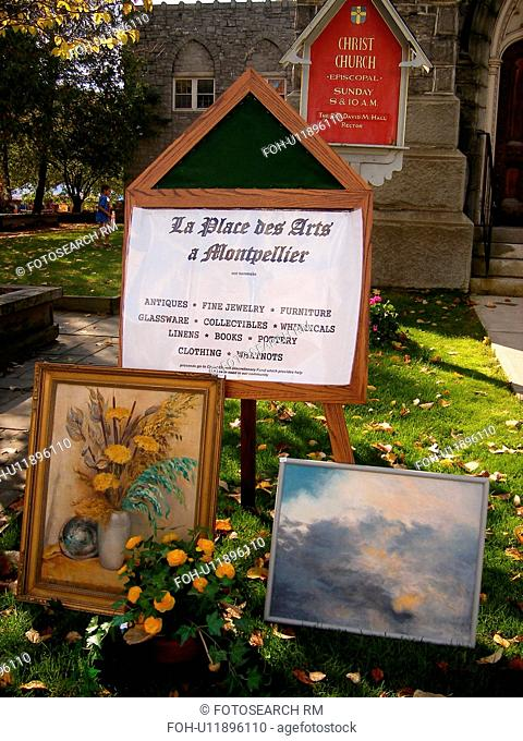 paintings, Saturday Farmers Market, Montpelier, VT, Vermont