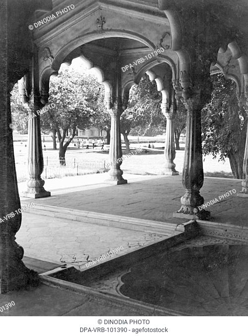 Diwan E Khas hall inside Red Fort at Delhi; India 1940's