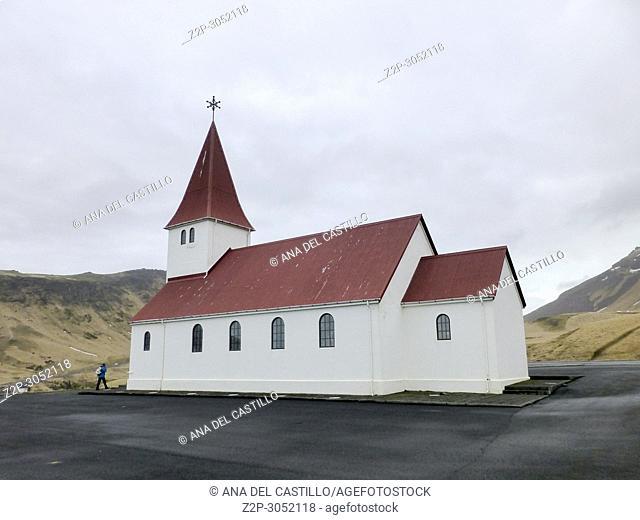 Church at Vik village South of, Iceland