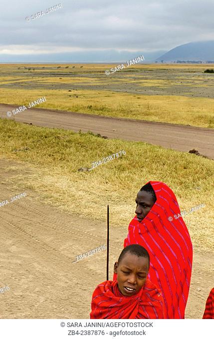 Masai people, Ngorongoro Crater, Ngorongoro Conservation Area, Tanzania, East Africa
