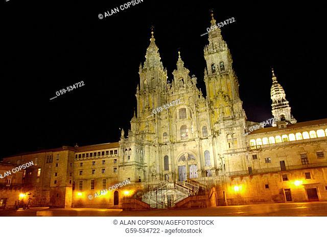 Cathedral, Santiago de Compostela. A Coruña province, Galicia, Spain