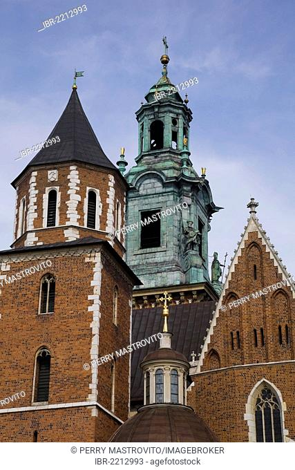 Wawel Cathedral and Sigismund Chapel at the Wawel Royal Castle, Krakow, Poland, Europe
