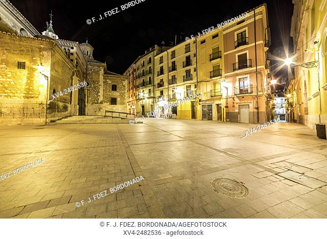 Cathedral Santa Maria de Mediavila by Night, Teruel, Aragon, Spain