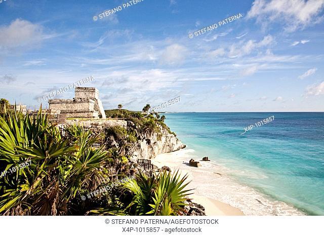 The Maya-Toltec ruins of Tulum on the Yucatan peninsula in Mexico