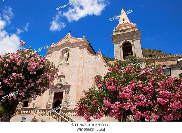 Church of St  Guiseppe on the Plaza ix Aprile - Taormina, Sicily