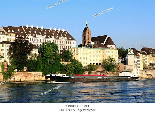 Cityscape with St. Martins Church in the background, Basel, Switzerland