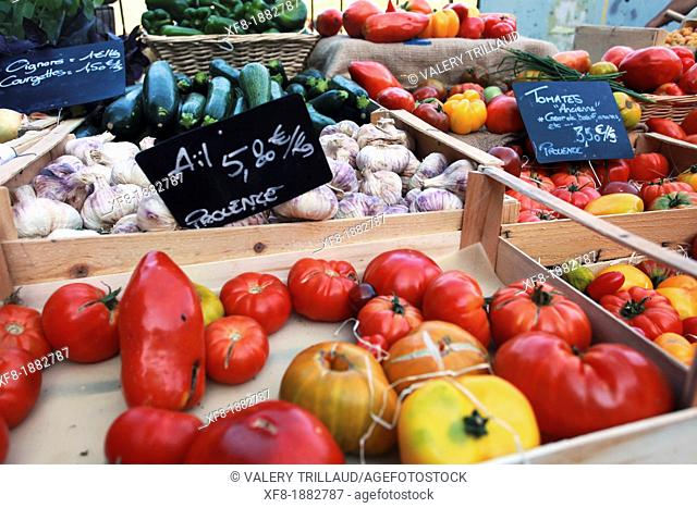 Colorful Provence vegetables, Alpes de Haute Provence, 04, PACA, France