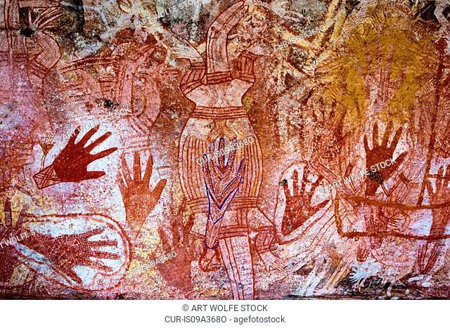Aboriginal pictograph, Kakadu National Park, Arnhem Land, Australia