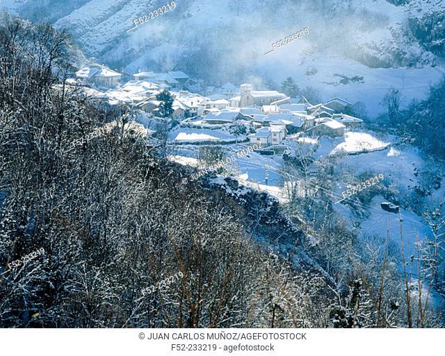 Village of Sobrefoz (Council of Ponga). Asturias. Spain