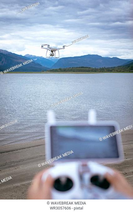 Drone operating using a remote control