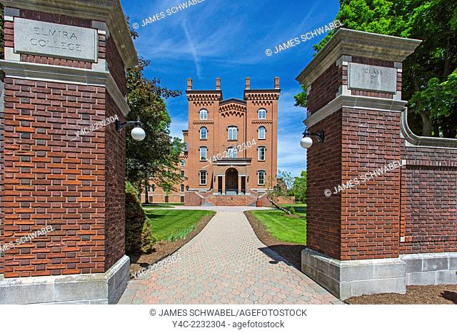 Cowles Hall at Elmira College a coeducational private liberal arts college founded in 1855 founded in 1855 as a womans college in Elmira New York