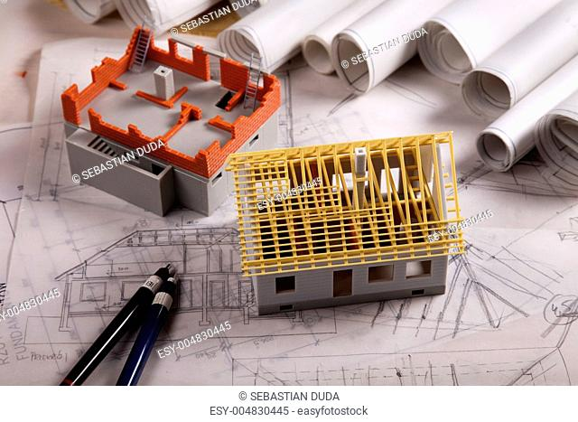 Architecture model and plans