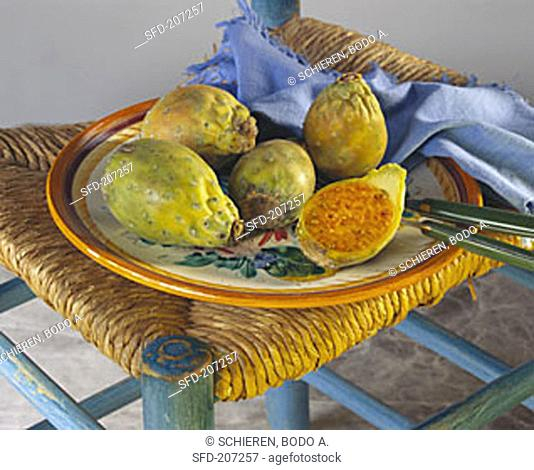 Prickly Pears in a Plate