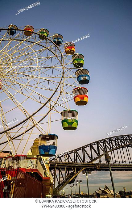 Ferris Wheel, Luna Park and Harbour Bridge, Sydney