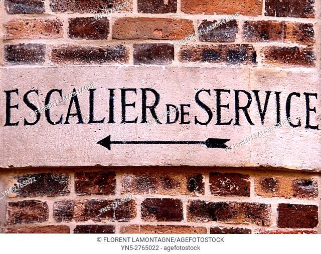 service backstairs, building, Paris, Ile de France, france