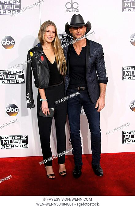 44th Annual American Music Awards held at the Microsoft Theatre - Arrivals Featuring: Maggie McGraw, Tim McGraw Where: Los Angeles, California