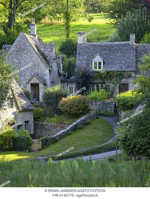 Arlington Row - homes built for the local weavers, Bibury, Glocestershire, England