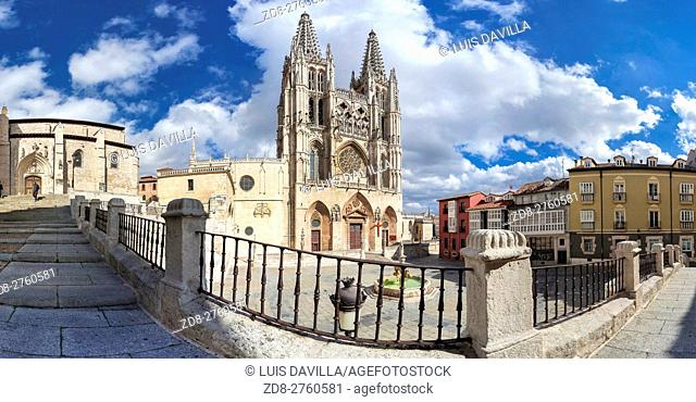 The Burgos Cathedral is one of the most beautiful Gothic monuments. It was declared World Heritage Site by UNESCO in 1984