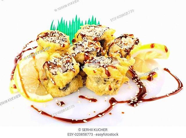 sushi roll fried in tempura batter