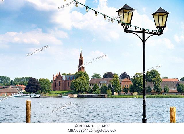 Germany, Mecklenburg-Western Pomerania, Malchow, view to the cloister