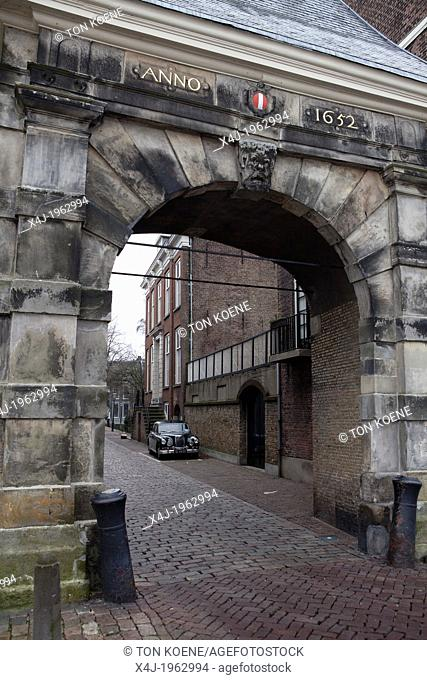 gate of the city of dordrecht, netherlands